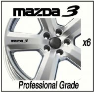 MAZDA 3 CAR WHEEL DECALS